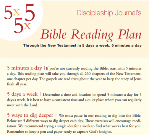 Discipleship Journal's Bible Reading Plan