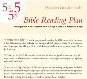 Discipleship Journal's Bible Reading Plan
