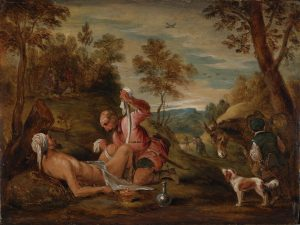 David_Teniers_the_Younger,_Studio_of_(after_Francesco_Bassano)_-_The_Good_Samaritan_-_1650- 1656