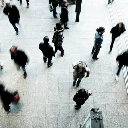 Busy pedestrians