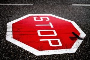 stop sign on road